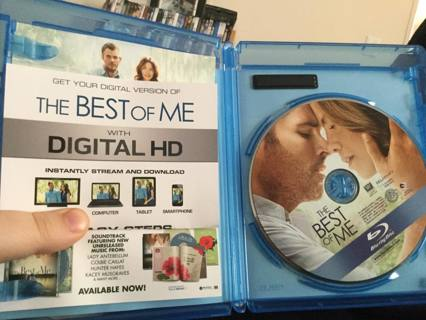 The best of me ...blue ray digital copy
