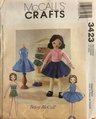 McCall's Crafts- Betsy McCall 3423