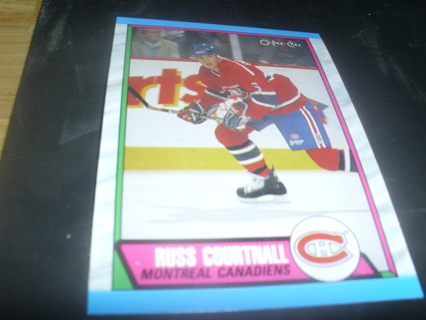 1981989 O Pee-Chee Russ Courtnall Hockey Card