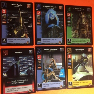 6 Star Wars 1999 Young Jedi Cards!