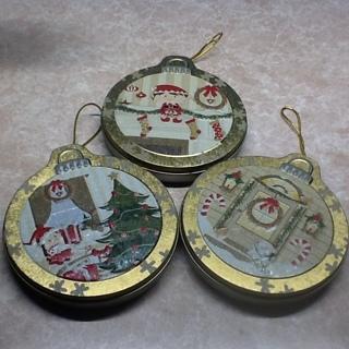 3 Christmas Cookie Tins
