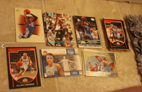 *40 Denver Nuggets NBA Basketball Cards Carmelo Anthony Mutumbo Iverson STARS!!!!