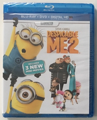Despicable Me 2 Blu-ray / DVD Movie 2-Disc Combo Pack - New Factory Sealed
