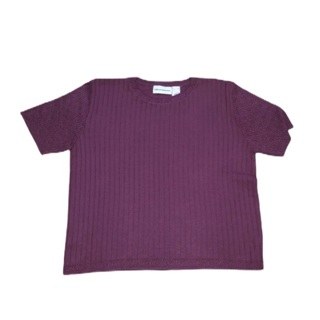 ALFRED DUNNER Mauve Short Sleeve Sweater L
