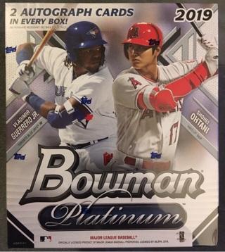 2019 Bowman Platinum Monster Box w 2 Autographs Per Box BNIB