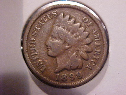 Free: 1899 Indian Head One Cent Copper Penny - 117 years old