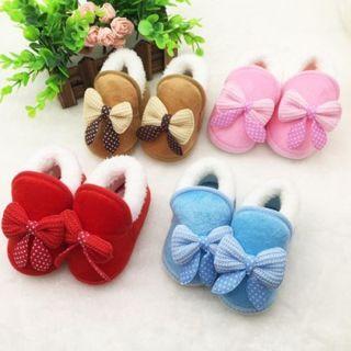 Newborn Baby First Walker Shoes Toddler Kids Soft Soled Warm Winter Boots 0-18M