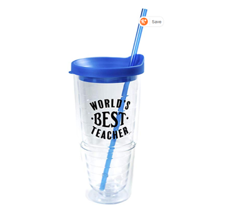 TEACHER APPRECIATION GIFT! World's Best Teacher Cup