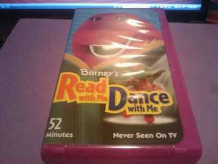 Free Barneys Read With Me Dance With Me Abcs 123s Vhs Vhs