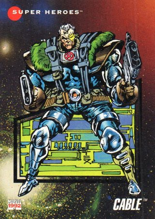 1992 Marvel Comic Trade Card: Cable