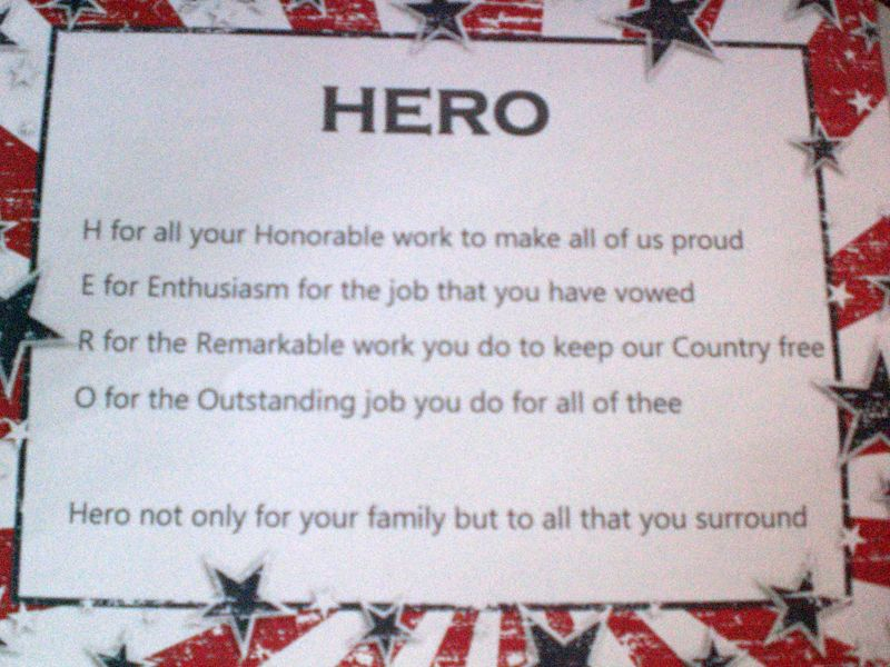 Free Hero Acrostic Poem Other Listia Com Auctions For