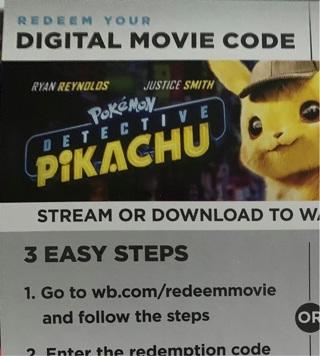 Detective Pikachu digital code