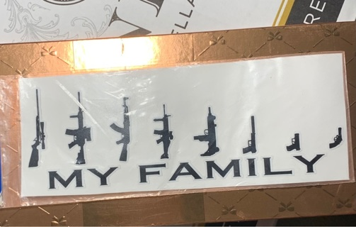 STICK-EMS:weather resistant vinyl decal;My Family