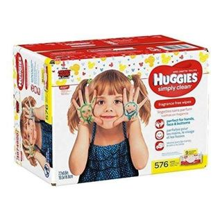 ✔~ Huggies Wipes Simply Clean Baby Wipes 9 Packs = 576 Count ~✔