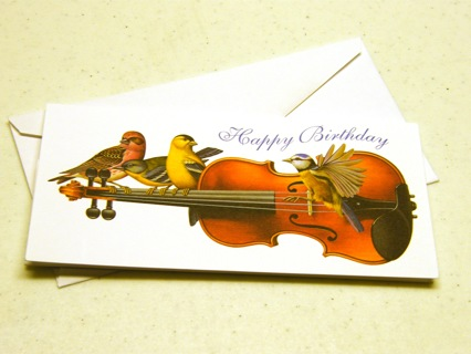 free viola birthday card office supplies listia com auctions