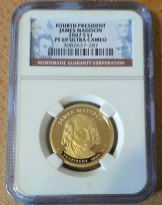 JAMES MADISON PF 69 ULTRA CAMEO