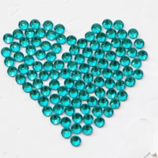Teal Blue 3mm Faceted Rhinestone Flatbacks Approx 50 Pieces NEW