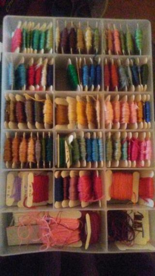 80 plus cards of various colors Embroidery Thread