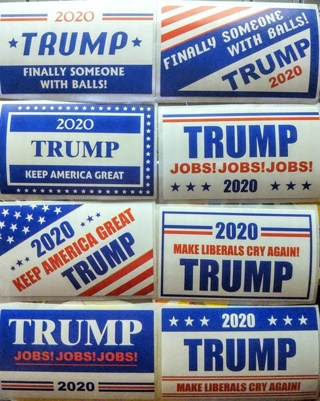 8 Trump Stickers (CLEARANCE SALE GET IT WHILE YOU CAN!!)