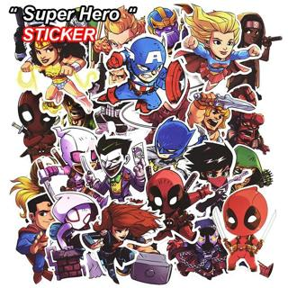 50 Pcs Super Hero Stickers for Luggage Laptop Skateboard Bicycle Motorcycle Car Styling Decals Fas