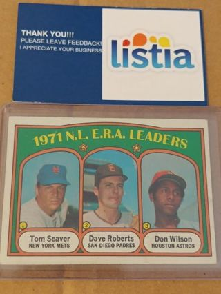 1971 N.L. ERA LEADERS⭐TOM SEAVER/DAVE ROBERTS/DON WILSON⭐EX COND!⭐FREE $HIPPING