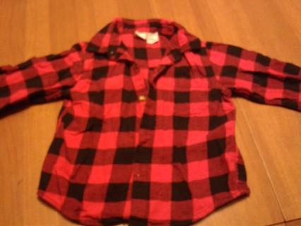 Size 4T warm flannel boys shirt