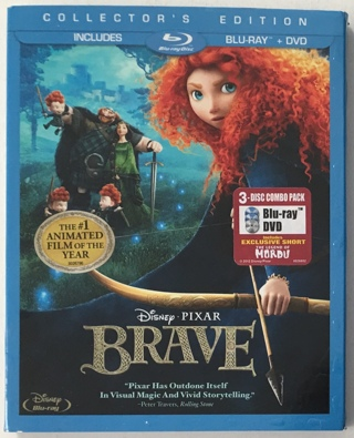 Disney Pixar Brave Collector's Edition 3-Disc Blu-ray / DVD Movie - Mint Discs!