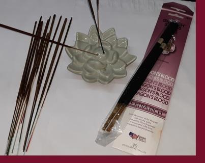 LOT of Incense & Lotus Petal Holder **BONUS** Available