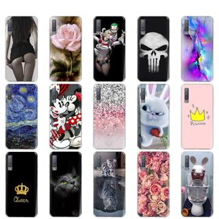 For Samsung A7 2018 Case Silicone Painting Soft Coque For Samsung Galaxy A7 2018 Case Cover Tiger