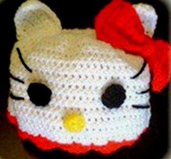 Free Boutique Crochet Hat Hello Kitty Bear Beanie Halloween