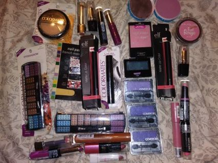 Large lot of makeup all new covergirl wet n wild colormates and more!