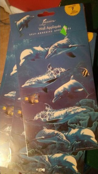 DOLPHIN WALL DECALS... 10 SHEETS