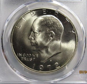★★ 1972-S EISENHOWER SILVER DOLLAR ★★ **PCGS MS67**