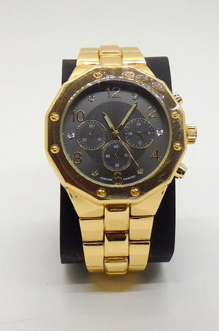 Men's Watch Goldtone Diamond Accent
