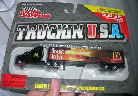 Racing Champions 1997 1:144 Scale McDonald's Tractor Trailer