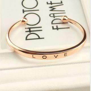 Plated LOVE Bracelet Jewelry Charm Cuff Bangle Gift