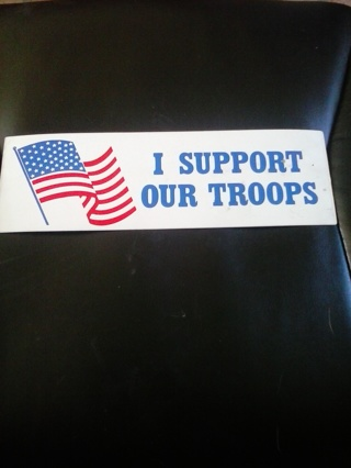 new I support our troops sticker