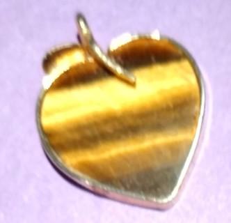 Vintage tiger eye apple heart