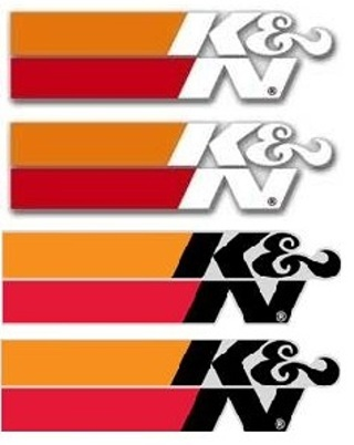 4 LOT K&N Performance Racing Filters Stickers / Decals Black & White