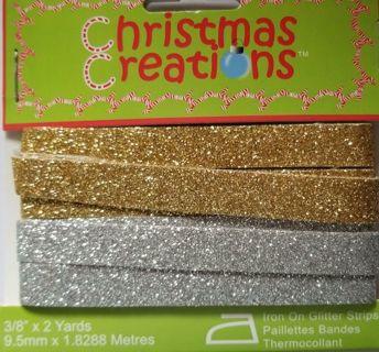 Iron On Glitter Strips