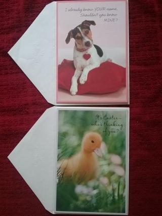 Secret Pal Valentine & Easter Cards & Envs.