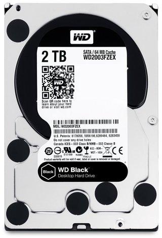 Used WD Black 2TB Performance Desktop Hard Disk Drive - 7200 RPM SATA 6 Gb/s 64MB Cache 3.5 Inch