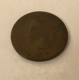 1879 Indian Head USA Penny Coin