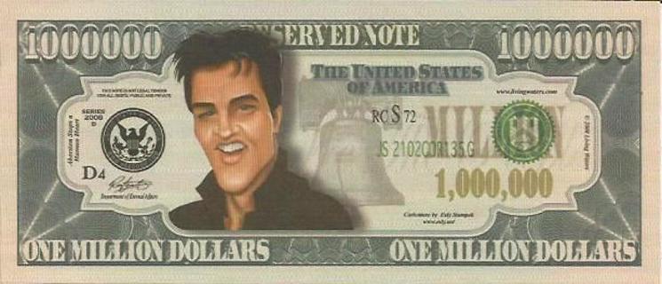 Elvis Presley Collectible Million Dollar Celebrity Bill