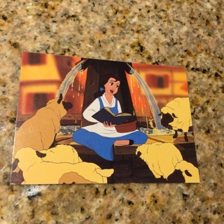 1992 Pro Set Beauty and the Beast - [Base] #6 Books and Big Dreams
