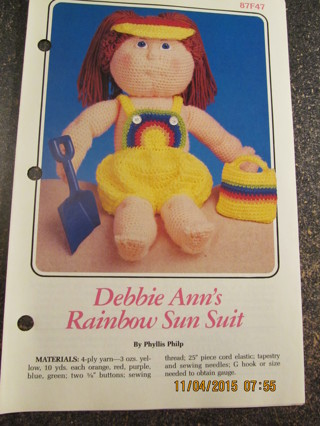 Debbie Ann's Rainbow Sun Suit