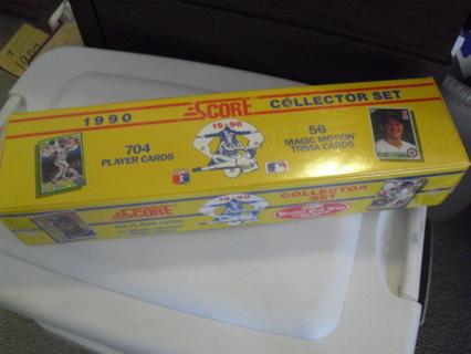 SEALED 1990 Score Baseball Factory Card Set 704 Cards