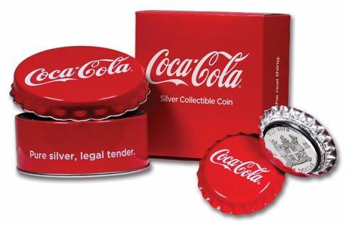 2018 Fiji $1 Coca-Cola Bottle Cap 6g .999 Silver Proof Coin