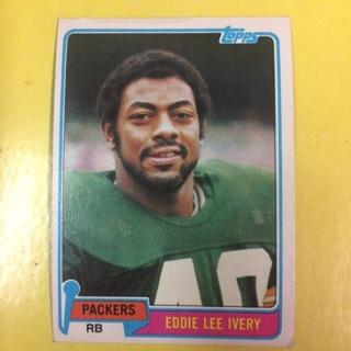 1981 Topps #117 RB Eddie Lee Ivery - Packers
