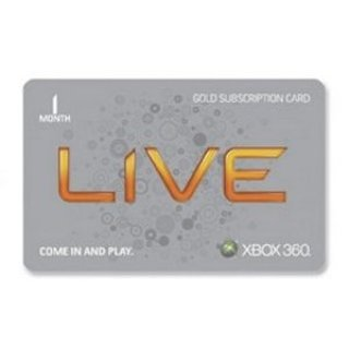 1 Month Xbox Live Subscription Code